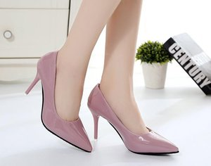 Женские повседневные туфли 10CM Мулы тапочка острым носом Блок ремень Закрытый неглубокие Высокие каблуки Сандалии насосы Bridal Эспадрильи Pink