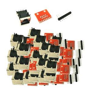 30pcs PCB conector RJ45 Breakout Electronic Components DIY ACCS