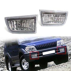 Land Cruiser Prado (J90) Petrol / Diesel 1999-1902 için Araba aksesuarları Yüz gerdirme Sis Light House Şeffaf Lens Kapağı Ön Tampon