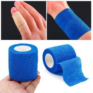 1 rotolo di protezione di sicurezza impermeabile autoadesiva bendaggio elastico 2,5 centimetri * 4.5M di pronto soccorso non tessuto coeso Bandage