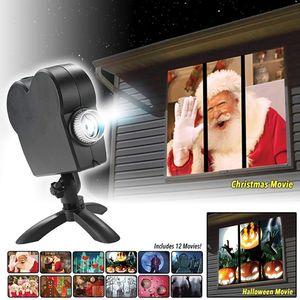 실내 / 실외 창 이상한 나라의 크리스마스 할로윈 (12) 영화 프로젝터 시스템 AC110-260VChristmas 프로젝터 조명에 대한 세부 사항