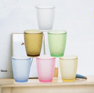 200ml-460ml Zumo de fruta Vasos acrílico vidrios de consumición de la cerveza taza de plástico botella de bebida de color de agua Copas GGA3500-2