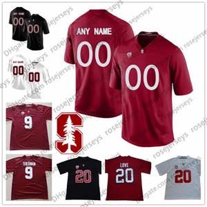 Personalizado Stanford Cardinal Futebol # 5 Christian McCaffrey 3 White KJ Costello 15 Davis Mills Arcega-Whiteside Ertz Elway Black Red Jersey 4XL