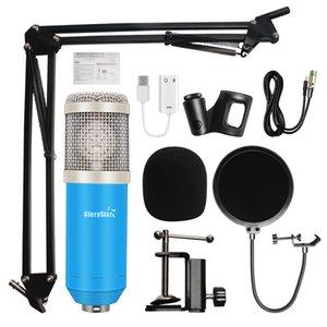Wired Microphone BM800 studio Vocal du professionnel à condensateur Audio Enregistrement KTV Karaoke Microphone Mic W / Stand pour ordinateur