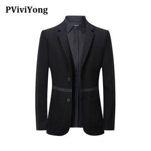 бренд PViviYong 2020 высокого качество для мужчин британского случайные Western двойной кнопки пальто костюма 663