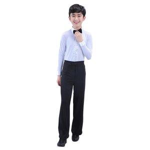 2019 Nouveau Latin Chemises Pantalon À Manches Longues Professionnel Enfants Latin Costume De Danse Moderne Salle De Bal Salsa Tango Rumba Dancewear