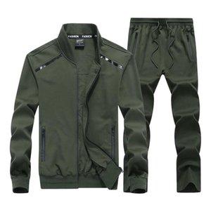 Eşofman Plussize Uzun Kollu 2PCS Spor Suit Homme İlkbahar ve Sonbahar Moda Günlük Kumaş Stretch Mens Tasarımcısı