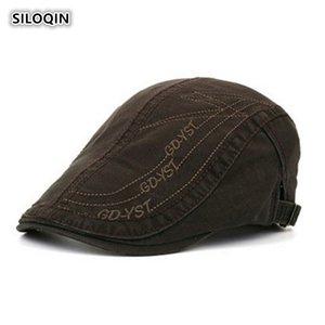 SILOQIN الربيع والخريف جودة القطن عالية للرجال القبعات سنببك قابل للتعديل حجم الفراغ الفنان الرسام ريترو مظلة القبعات