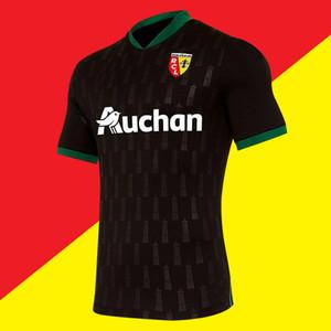 Yeni 2020-2021 RC Lens yetişkin Futbol Formalar uzak gömlek 20/21 RC Lens Erkekler Sotoca S.Banza Robail Jean futbol Gömlek Fanlar Tops