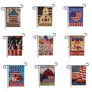Banner Nuovo stile Creativo Idae Lino Rettangolo Bandiere nazionali Moderno Popolare Molti stili Giardino Bandiera Produttore Vendita diretta 6lj p1