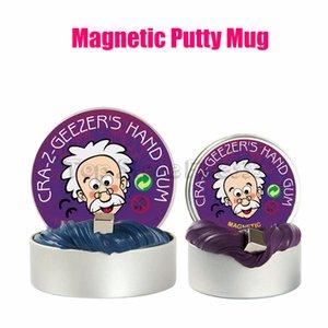 Ручная резинка замазка DIY магнитная слизь игрушки магнитная замазка игрушка 80 г / коробка оптом 6 цветов магнитные игрушки