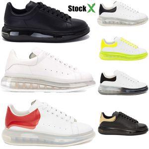 Top qualité des hommes coussin de mode design de luxe femmes chaussures de sport semelle en caoutchouc surdimensionné cristal unique sneaker en cuir véritable plate-forme Suede