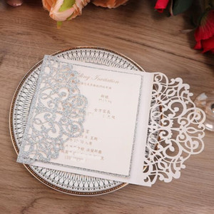 Wedding invitations Laser Cut Flower Vines Invitation size of 15cm*15cm Customizable Romantic wedding invitations greeting cards