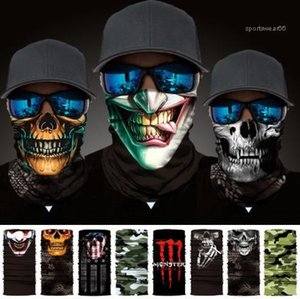 Multiple Style Outdoor Seamless Cycling Magic Hat Fashion Unisex Scarf Face Mask Collars Windproof Sunscreen Scarf