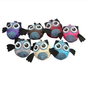 Cartoon Owl Sac Pliable épicerie Sacs fourre-tout hibou Forme Sacs réutilisables Organisation pour la cuisine étanche Sac de rangement GGA3203