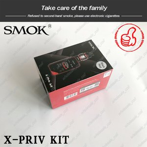 SMOK X-Priv Starter Kits ecigarette 225W Dual 18650 Battery Vape Mods with TFV12 Prince Tank 100% Authentic Smoktech X Priv Kit