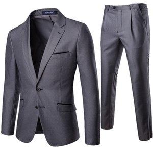 Men Pattern Suit 2 Pieces Thousands of Birds Business Formal Wear Plaid Suit Best Man Groom Marriage Formal Dress