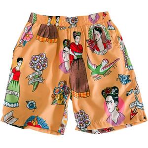 Tropical Hawaii Shorts Men Summer Beach elásticas Rua Homens Shorts dongguan_ss em estoque