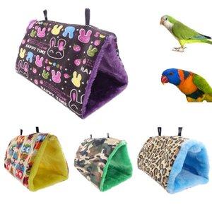 Peluche douce Snuggle Hanging Cave Accueil Parrot Balançoire Toy Cage Hamac Pet oiseaux Lits superposés CRYWW9