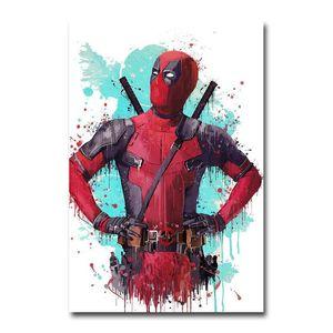 Deadpool 2 Superhero Movie Canvas Vintage Poster Art Prints 8x12 24x36 inch