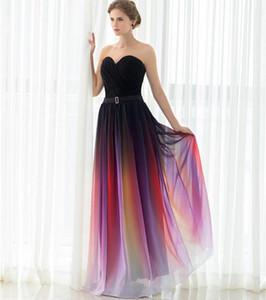 Moda Elie Saab Gradiente Barato Prom Dresses 2019 Sweetheat Plissado Chiffon Ombre Celebridade Red Carpet Evening Vestidos Em Estoque