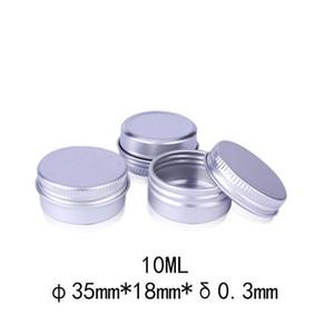 10ml leere Aluminiumbehälter JAR 10G Metall Blechbox Dosen Schraubkappen 10 ml G Balsam Container Nagelüllungshandwerk TOP Flasche Verpackung