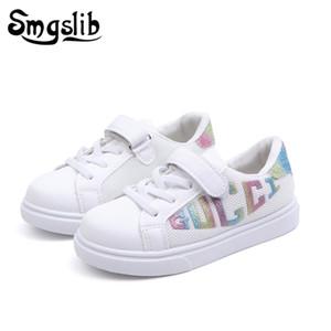 Детская повседневная обувь белые девушки детские кроссовки 2019 весна осень детские мальчики спортивные кроссовки искусственная кожа обувь Y190525