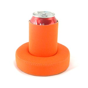 Customized Cooler Bags Orange Silk Screen Printing 330ml Swimming Party Use Enjoyed Neoprene Floating Can Coolers Stubby Holder