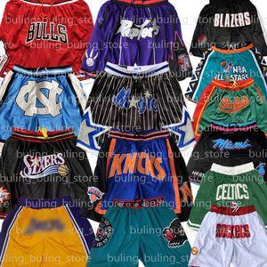 Memphis Grizzlies Knicks de oro Estado de Nueva York Bulls de Chicago a sólo los guerreros de calor Portland Blazers Rockets pantalones cortos de baloncesto Miami Trail Don