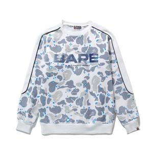 Nuevo lujo para hombre suéter marca de moda APE camuflaje cabeza casual manga larga más chaqueta de terciopelo camiseta de alta calidad chaqueta de pareja