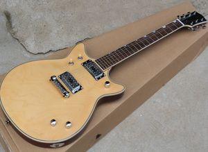 Фабрика Оптовая натуральное дерево Цвет гитары электрический с Maple Body, Chrome Аппаратные средства, могут быть настроены как запрос