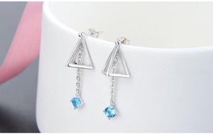 Top Qualität S925 Sterling Silber Frauen Tropfenohrringe SS925 Ohrring Frauen Silber CZ Ohrring Zirkonia Silber Ohrstecker