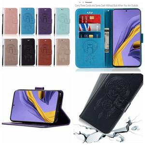 De piel para Samsung Galaxy A71 A51 Moto Plus G8 G8 Juega búho billetera de cuero de teléfono de tarjeta de ID Dreamcatcher linda del soporte del sostenedor de lujo del amor de la cubierta del tirón