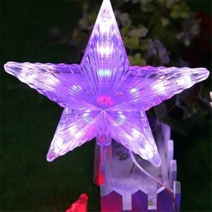 Modlar Flaş RGB 20cm Big Star Işık Su geçirmez Peri Led Işıklar AC110V -220v için Noel Partisi Düğün Dekorasyon