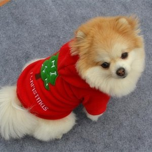 Christmas Pet Puppy Dog Clothes Santa Claus Costume Outwear Thick Coat Apparel Best Portal