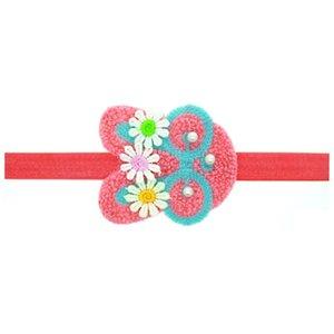 Tricoté à la main bébé bandeaux avec perle fleur cheveux cerceau bande dessinée lapin en forme de bande pour le jour de Pâques 1 4qn BB