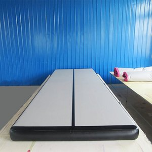 Kostenloser Versand Inflatable Air Track 4x1x0.1m Gymnastik Professionelle Airtrack Yoga Sport Wrestling Buffer verhindern Verletzungen Mats Tumbling