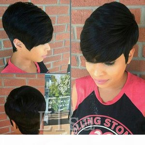 Short Human Hiar Wig Brazilian short pixie human Hair Wigs wigs Full lace wig 100 Human hair wig lace front for black women