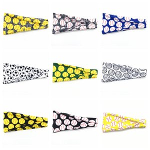 20style Baseball Hairband Softball Sports Sweat Ball Headbands Yoga Fitness Scarf Women Men Football Team Hair Band Party Favor GGA3404