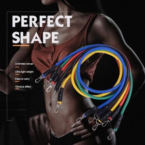 11-piece Fitness Resistance Tube Band Gourd Hook Set Gym Stretch Pull Rope Exercise Training Expander Pilates Yoga Workout