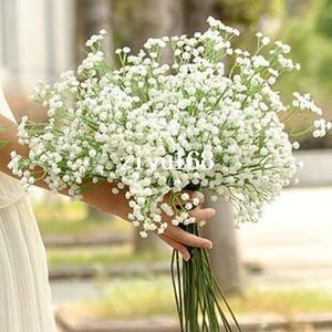 5pcs Atificial Baby Breath Gypsophila Flower for Wedding Decoration Bridal Bouquet Plastic Flowers White Home Decor Fake Plant
