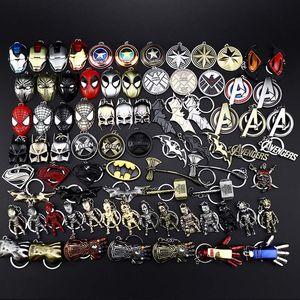 Marvell takı SuperHeroes Avengers Metal kolye Anahtarlık Battman Spiderrman Captainn Shield Anahtarlık porte nota anahtarı chaveiro anahtarlık