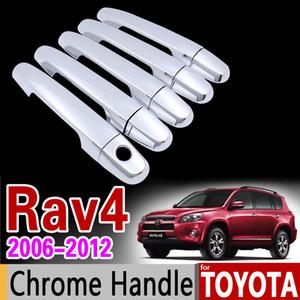 도요타 RAV4 30 XA30 용 크롬 도어 핸들 커버 트림 세트 2006 2007 2008 2009 2010 2011 2012 RAV 4 차량용 액세서리 스티커