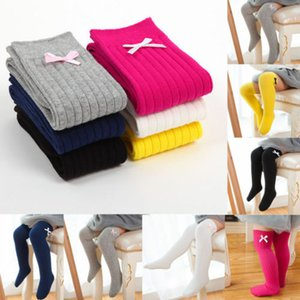 35-45 cm New Kids Socks Toddlers Girls Mini Bow Knee High Long Soft Cotton Lace baby Socks Kids kniekousen meisje Dropshipping