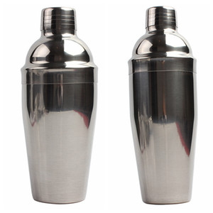 Cocktail de aço inoxidável 19 oz 25 oz Shaker Boston Wine Shaker Mixer Wine Martini Beber Shaker Bottle Bartender Partido Barra de Ferramentas VT1671