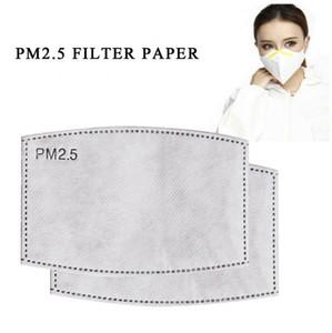 Pm2. 5 filtre İçin Maske Anti Pus ağız maskesi değiştirilebilir filtre-dilim 5 katmanlar dokunmamış aktif karbon filtre yüz maskeleri Conta CCA12001