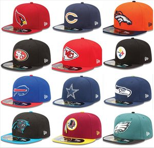 2020 Uomo Calcio Tutti squadra Sul Campo SF 49er dimensione misura piatti cappelli logo ricamato protezioni di Hip Hop design KC Baseball Cap Pieno Chiuso