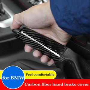 Araba Karbon Fiber İç El Freni Kapak Sticker BMW X1 için 1 2 3 4 Serisi GT M3 M4 E90 F20 F21 F30 F34 F32 F35 E84 Yani üzerinde