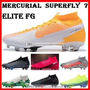 GIFT BAG Herren Hohe Ankle Fußballschuhe Victory CR7 Mercurial Superfly VII 360 Elite FG Fußballschuhe Neymar Superfly 7 Fußballschuh