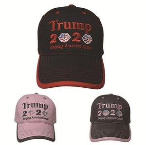 Trump 2020 Cappello conservazione della sfera Cappelli America Grandi Lettera ricamo Donald Trump Trump Lip Flag ragazze di baseball LJJO7592-11